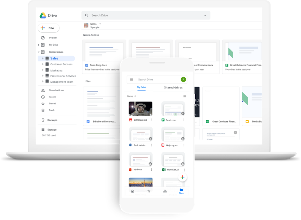 Store and share files in the cloud.