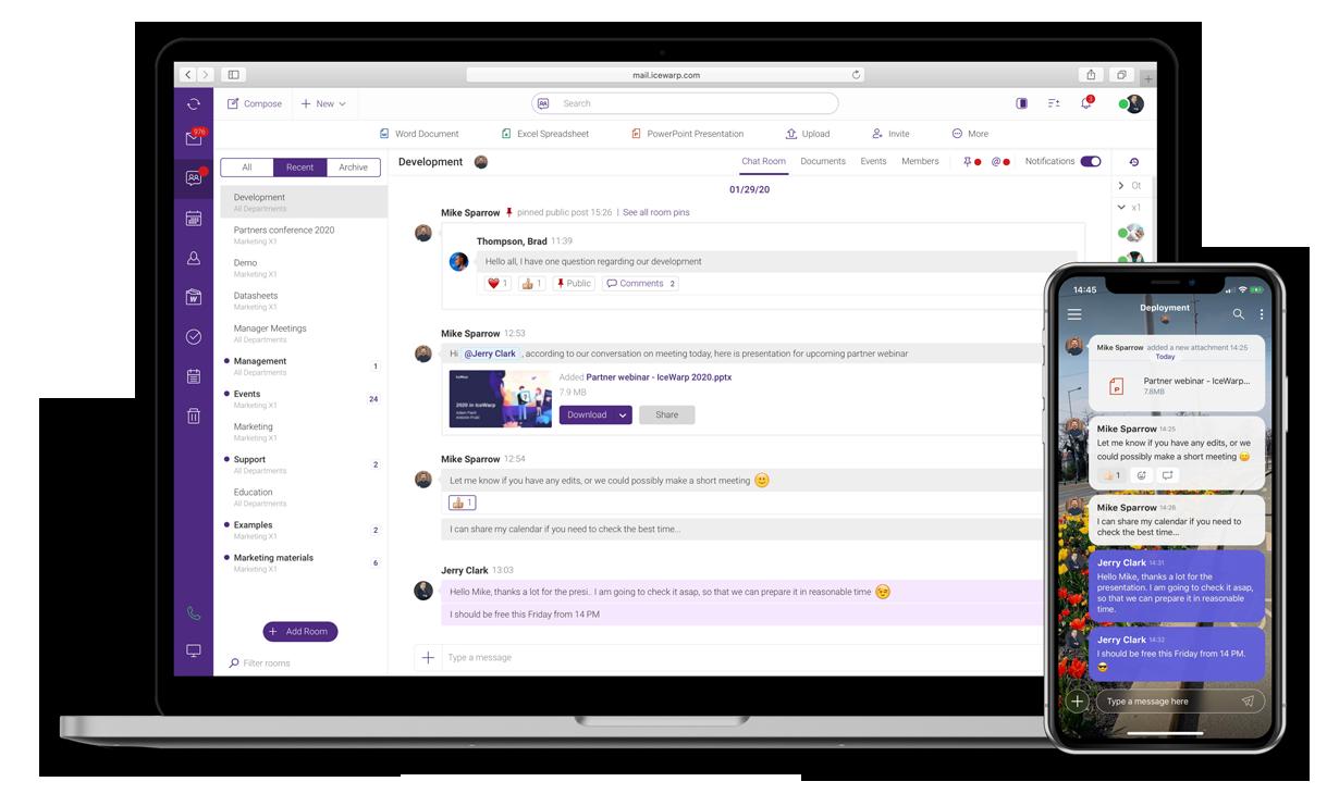 IceWarp TeamChat, beyond email communication.